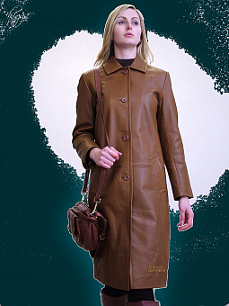 Higgs Leathers LAST FEW! Melanie (7/8th. length ladies leather coats)
